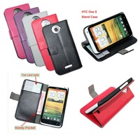 Lychee PU Wallet Case For htc One X