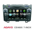 CRV GPS Navigation System with 7inch Full Touch Screen and 4.1 channels Line-out, Rear Camera Input, Front USB