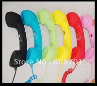 DHL 20pcs Telephone Handset Radiation Protection With Retail Package Mutil Color  can adjust volume