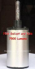 Nouvelle puce 75 W HID ampoule et Ballast pour torche 7500 Lumen livraison gratuite gros et de détail(China (Mainland))