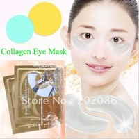 Wholesale - White Crystal collagen Eye Mask Hotsale eye patches 500pairs/lot Fast delivery Free shipping