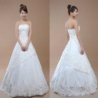 Unique slim qi in wedding dress