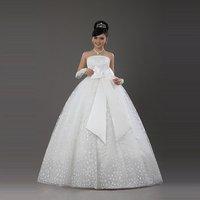 Champagne color qi in wedding high waist qi in wedding white wedding dress 2012