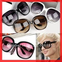 ree Shipping~~Retail 20pc/lot Fashion style big frame women sunglasses, Super Star Colorful sunglass,Whosales and Retail RT401
