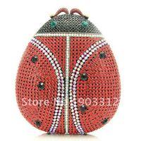 Luxurious Crystal Ladybug Ladybird  Clutch Evening  Purse Handbag animals Sexy Handbag