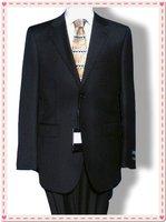 Leisure Suit,Brand NameCasual Men's Suitcontains(Jacket+pant) Black Size:M-L-XL shiny 100% wool STRIPES FREE FAST SHIP & TIE SET