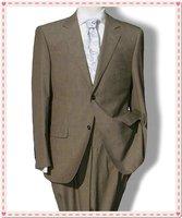 Wool business Set Slim suits formal dress suit outerwear+pants 2 Button Suit shiny 100% wool STRIPES FREE FAST SHIP & TIE SET