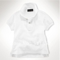 Best discount!!! Children's Polo Short Sleeve Solid Colors Boy's Shirts Girl's embroidery T-Shirt~-B1