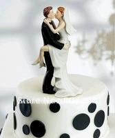 high quality Sexy Kissing Couple figurine Cake Topper as Wedding cake decoration
