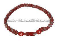 Alabama Crimson Tide Triple Braided Titanium Sport Necklace, 3 Ropes  100pcs/lot, Free Shipping