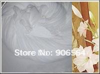 White color mesh flowers,nylon stocking material for DIY flower,20pcs/lot free shipping