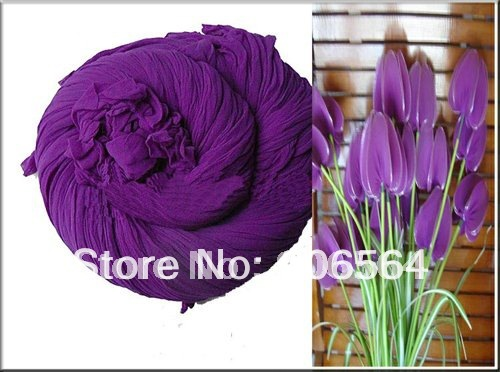 Purple color mesh flowers,nylon stocking material for DIY flower,20pcs/lot free shipping(China (Mainland))