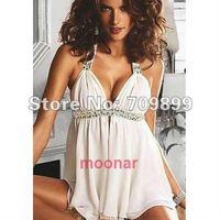 Fashion Lady 2012 New Women Chiffon Stitch Stripe Asymmetrical Mini Dress Sleeveless Career  E0480