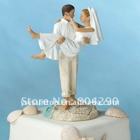 Popular Just Married Beach Couple Figurine cheap cake decorations