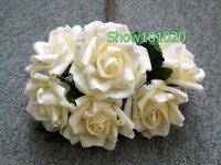 120STEMS WEDDING BOUQUET FOAM ROSE BUNCH IVORY*LARGE