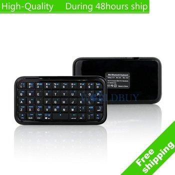 High Quality Ultra Slim Mini Wireless Bluetooth Keyboard For iPad PDA iPhone 4s 4 lenovo PC Free Shipping UPS DHL HKPAM CPAM