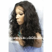 2012 hot sales 100% india remy human hair wigs wavy lace front wigs