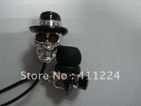 Free shipping Special Stylish Skull Earphones 1.2m Cord 3.5mm mp4 earphone 10 pcs/lot