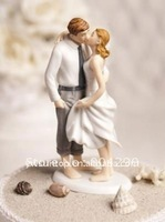 Beach Kissing Resin Couple Figures Funny wedding Cake Toppers