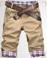 Free Shipping 2014 New Hot Sale male's leisure short trousers man's casual shorts  Drop Shipping