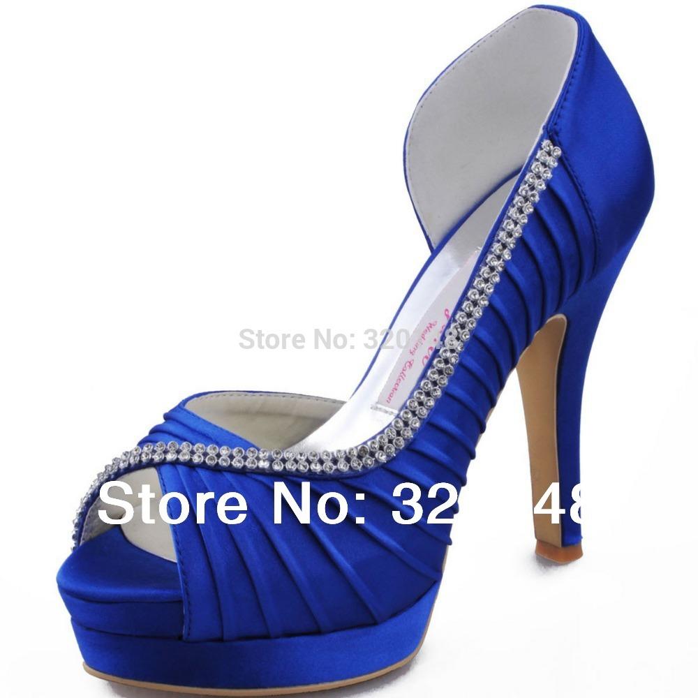 Royal Blue High Heels Wedding Shoes