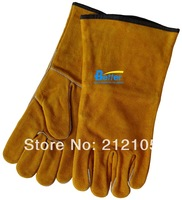 Free Shipping !! Cow Split Leather Driver Glove !! Deluxe Cow Split Leather Welding Work Gloves