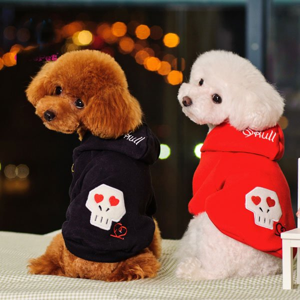 dog-cotton-coat-red-black-puppy-hoodies-track-suit-with-ghost-prints-pet-font-b-sports - Study in black and red - Philippine Photo Gallery
