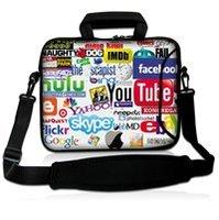 """10"""" Internet Logo Neoprene Laptop Carrying Bag Sleeve Case Cover w/Side Pocket +Shoulder Strap For 9.7"""" -10.2"""" Laptop Tablet PC"""
