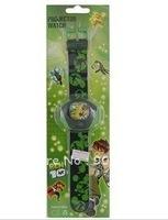 Cartoon Ben 10 Alien Force Pattern Plastic Kid's Digital Projector Watch (Green),Free shipping