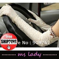 2012 fashion gloves woman lace long gloves fashion design driving gloves anti-slip 2pcs/lot free shipping HK airmail