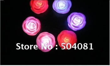 Colorful red Rose Lamp LED light changing color candle top deal Christmas decoration romantic birthday wedding Valentine gift