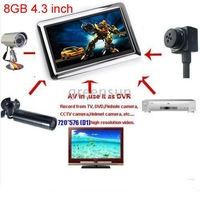 4.3 inch 8GB Portable Video Recorder DVR Monitor AV IN AV OUT MINI DV JXD990 Free shipping