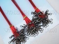 Free DHL/EMS/FEDEX! Lot of 100ets (60pcs=1set) GREEN RED BLACK MIX Colour Fishing Rigs Sea Wire Leaders Tackles