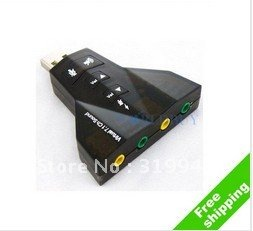 free shipping UPS EMS 7.1 CH USB 2.0 3D Audio Sound Card Adapter MIC/SPEAKER