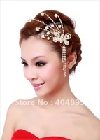 wedding/bridal crystal butterfly hairstick with tassel