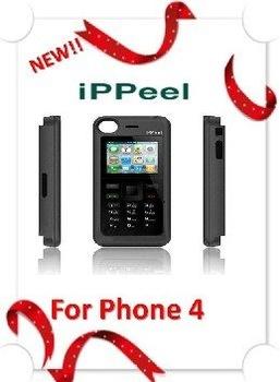 IPPeel Dual sim external mobile phone for phone 4,Dual sim power case for phone4
