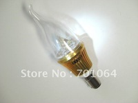 Brightest LED Bulb with B15 Base LED Candle light LED bulb brightest 3x1W   AC85V-265V   (warm &cool light)