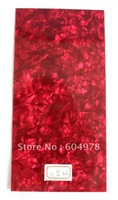 3Pcs Quality Red Pearl celluloid Guitar Head Veneer Shell Sheet
