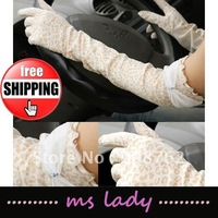 Free Shipping! Fashion gloves long gloves for lady hot leopard gloves 2012 2pcs/lot free shipping HK airmail