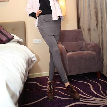 Culottes legging thin faux two piece bubble skirt pants solid color basic skirt pants 2