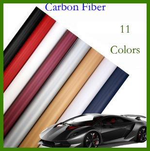 High quality 3D Carbon Fiber film Vinyl Car Sticker Carbon fiber sheet (100*60CM) Free shipping