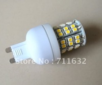 Hot!!! Free Shipping 50pcs/lot G9 SMD 48 LED Day White Light Bulb Wide Degree 210 lumen 3w High power