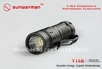 Free Shipping,wholesale SUNWAYMAN V10R(CREE R5 ) Flashlight f210 Lumens Fully Variable Magnetic Control Flashlight
