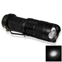 Free Shippingwholesale SIPIK SK68 3W LED Focus Cree LED Flashlight (1 x AA Battery)
