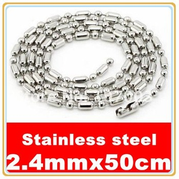 12pcs/lot 2.4mmx50cm Stainless Steel Bamboo Chain Stainless Steel Necklace Chain Free Shipping