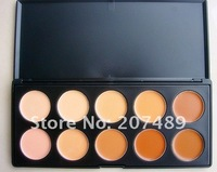 10 full color makeup cream palettes professional comestics set  eyes Facial Camouflage concealers grooming wholesale