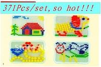 Intellectual stitching  mushroom nail Intellectual jigsaw puzzle Educational Toys / 371Pcs/set  free shipping