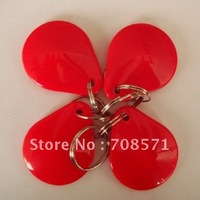Low frequency passive rfid keyfob with EM4100+ series number back+red