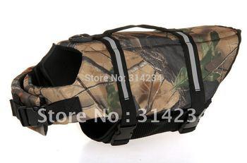 2013 Camouflage  PET LIFE  Large size  retail dog life jacket FREE SHIPPING  PROMOTION Hot sale good quality