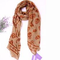 Skull-print scarf/shawl/scarves, free shipping,860338